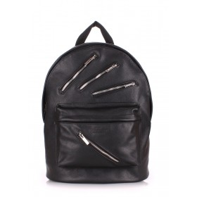 Рюкзак PoolParty Backpack Leather Rock Star Black
