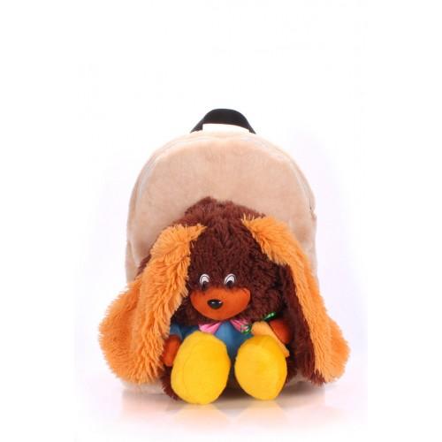 Детский рюкзак PoolParty Kiddy Rabbit Brown