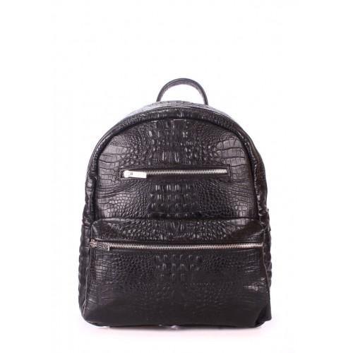 Рюкзак PoolParty Mini Croco Black