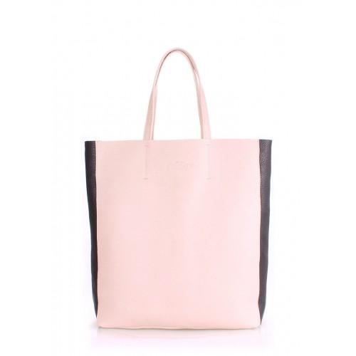 Женская кожаная сумка PoolParty City 2 Bag Beige Black