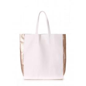 Кожаная сумка PoolParty City 2 Bag White Gold