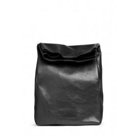 Кожаная сумка-клатч PoolParty Lunchbox Black