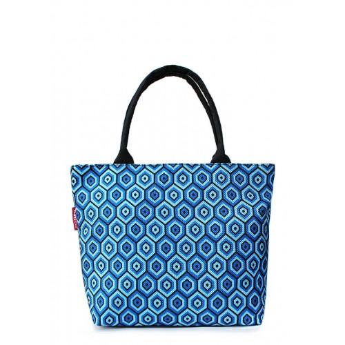 Текстильная сумка PoolParty Cells Blue