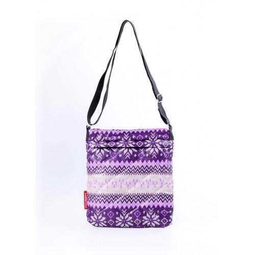 Стеганая дутая сумка-планшет PoolParty Nordic Purple