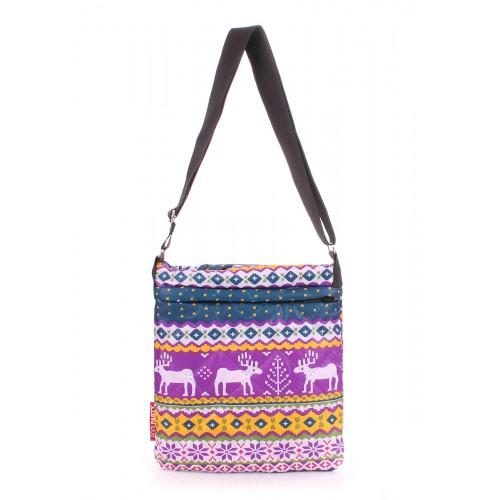 Стеганая дутая сумка-планшет PoolParty Deer Blue Violet