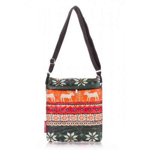 Стеганая дутая сумка-планшет PoolParty Deer Orange