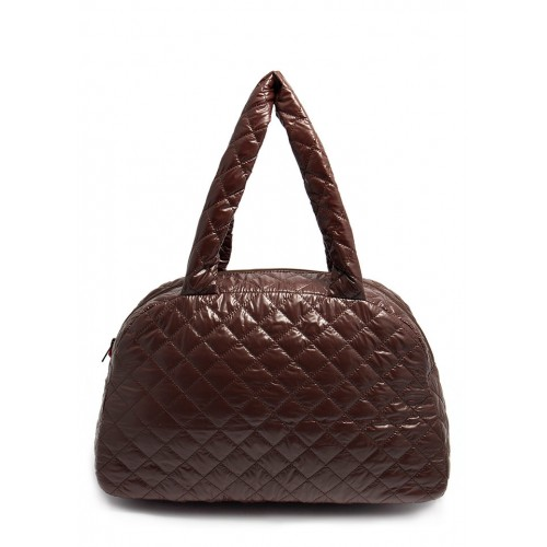 Стеганая дутая сумка PoolParty Casual Quilted Brown