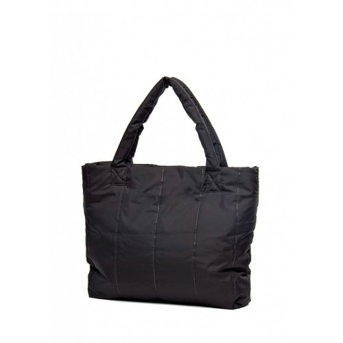 Стеганая дутая сумка PoolParty NS Black