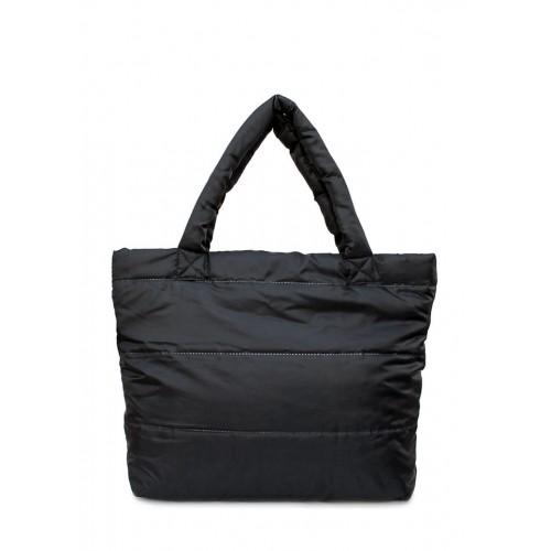 Стеганая дутая сумка PoolParty PP Black