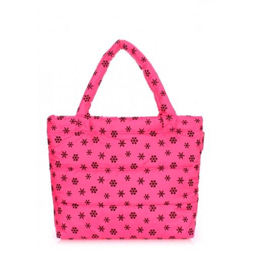 Стеганая дутая сумка PoolParty Snow Pink