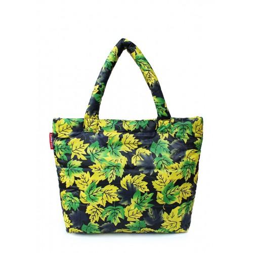 Стеганая дутая сумка PoolParty Leaves Yellow