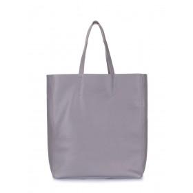 Кожаная сумка PoolParty City Grey
