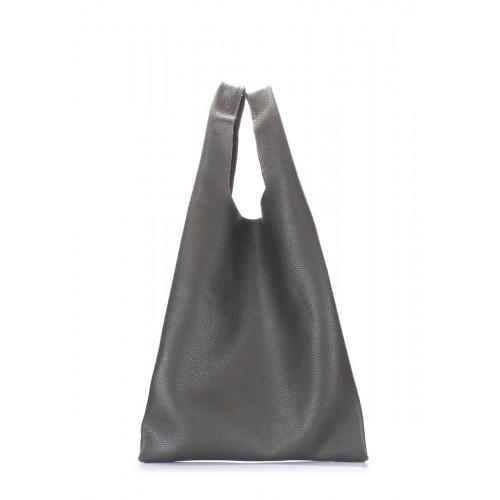 Женская кожаная сумка PoolParty Tote Khaki