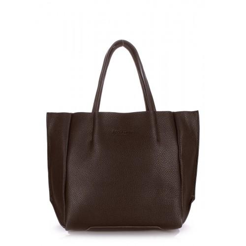 Женская кожаная сумка PoolParty Soho Brown