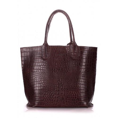 Женская кожаная сумка Pool Party Amphibia Brown