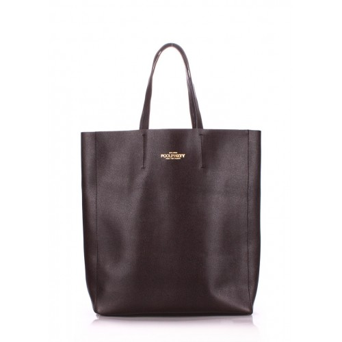 Женская кожаная сумка PoolParty City Safyan Brown