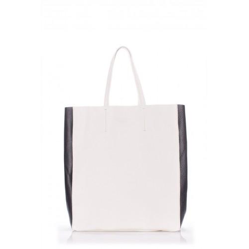 Женская кожаная сумка PoolParty City 2 Bag White Black