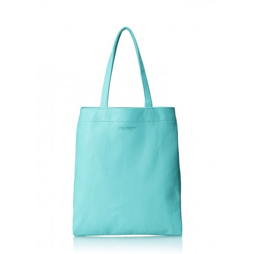 Кожаная сумка PoolParty Daily Tote Blue