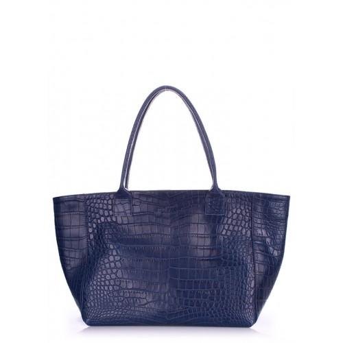 Женская кожаная сумка PoolParty Desire Caiman Blue