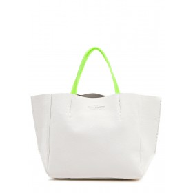 Кожаная сумка PoolParty Limited Soho White Green