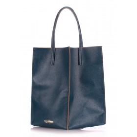 Кожаная сумка PoolParty Milan Ranch Blue