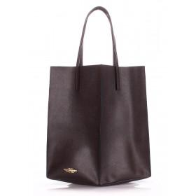 Кожаная сумка PoolParty Milan Safyan Brown