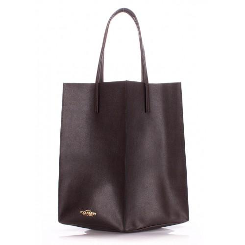 Женская кожаная сумка PoolParty Milan Safyan Brown