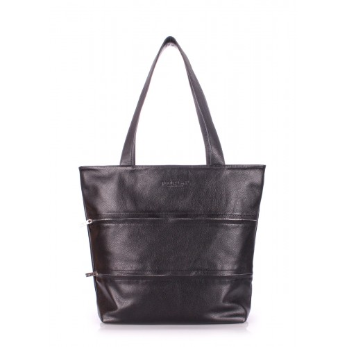 Женская кожаная сумка Pool Party Choice Black