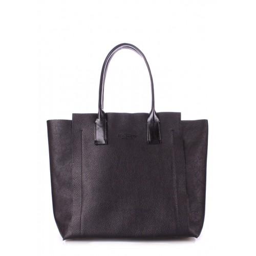 Женская кожаная сумка PoolParty Legend Black