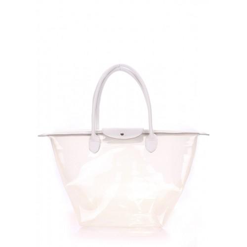 Женская кожаная сумка PoolParty Kelly White