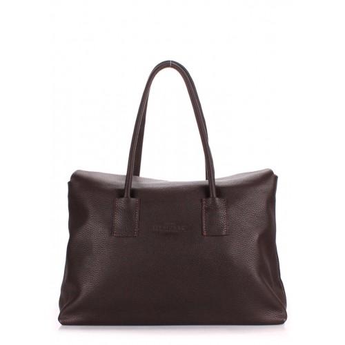 Женская кожаная сумка PoolParty Sense Brown