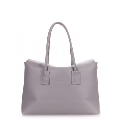 Женская кожаная сумка PoolParty Sense Grey