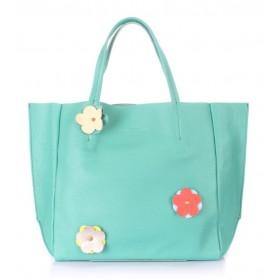 Кожаная сумка PoolParty Soho Flower Mint