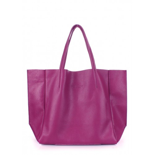 Кожаная сумка PoolParty Soho Bag Fuchsia