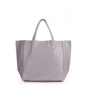Кожаная сумка PoolParty Soho Bag Grey