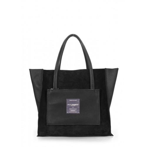 Женская кожаная сумка PoolParty Soho Insideout Black Velour