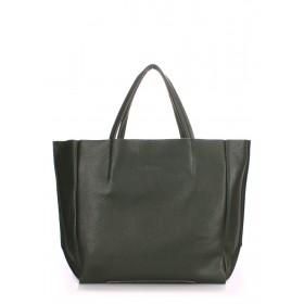 Кожаная сумка PoolParty Soho Bag Khaki