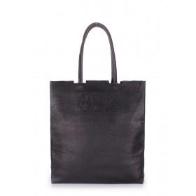 Кожаная сумка PoolParty Tote #22 Black