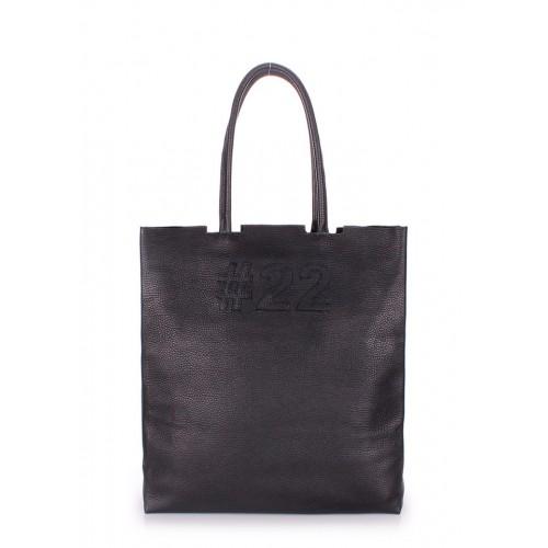 Женская кожаная сумка PoolParty Tote #22 Black