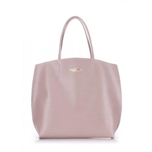 Женская кожаная сумка PoolParty Pearl Beige