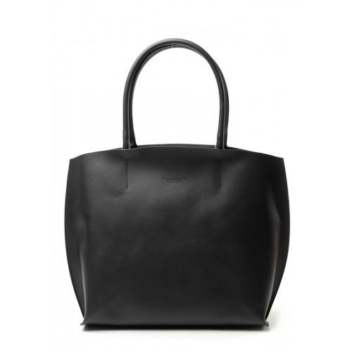 Женская кожаная сумка PoolParty Pearl Black