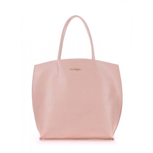 Женская кожаная сумка PoolParty Pearl Peach
