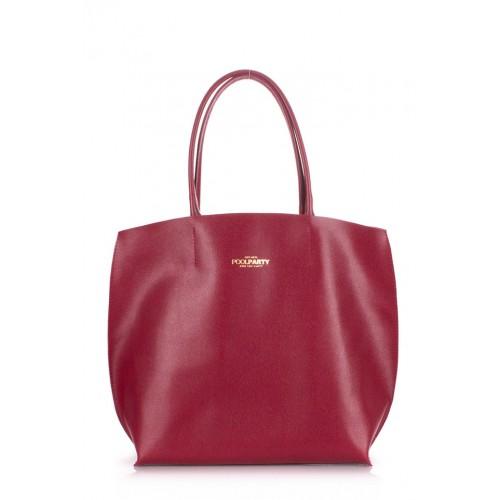 Женская кожаная сумка PoolParty Pearl Red