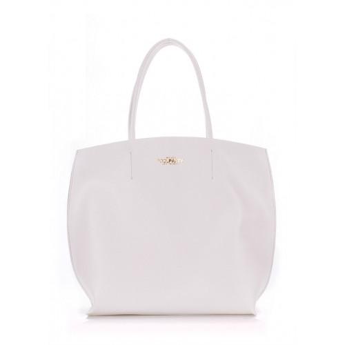 Женская кожаная сумка PoolParty Pearl White