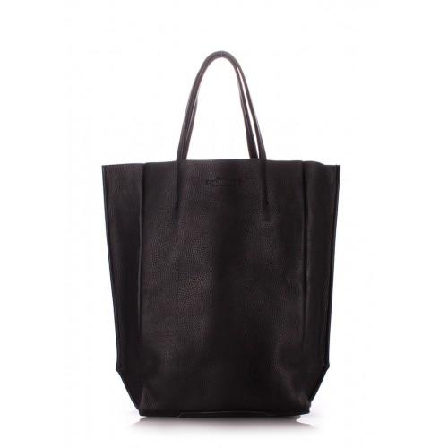 Женская кожаная сумка PoolParty Big Soho Bag Black