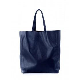 Кожаная сумка PoolParty City Dark Blue