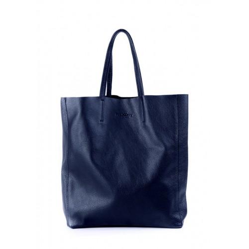 Женская кожаная сумка PoolParty City Dark Blue