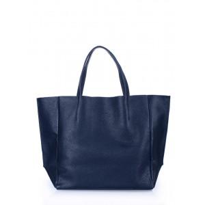 Кожаная сумка PoolParty Soho Dark Blue