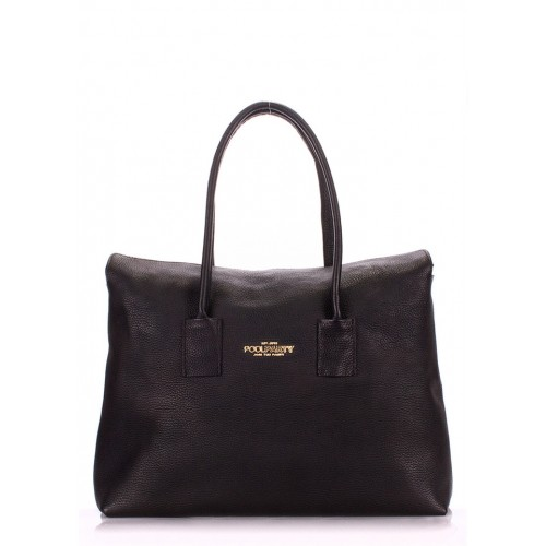 Женская кожаная сумка PoolParty Sense Black