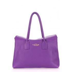 Кожаная сумка PoolParty Sense Violet